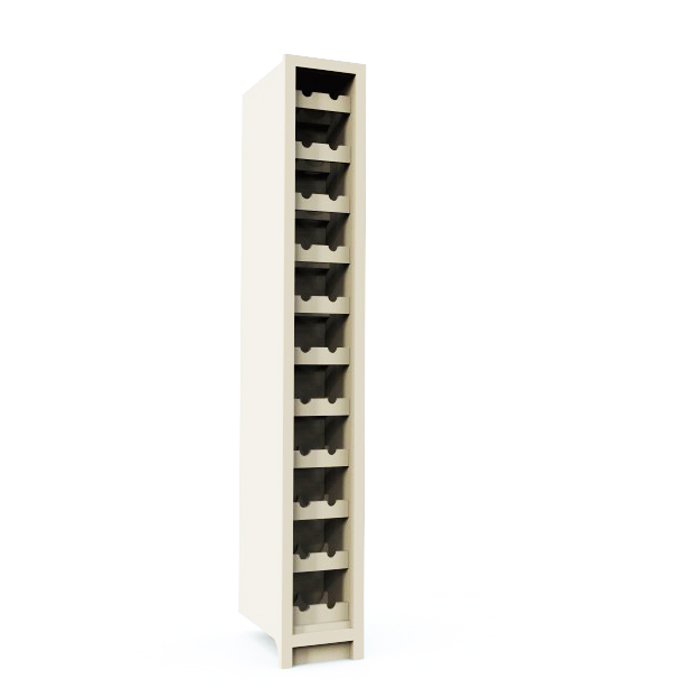 Double Wine Rack 300mm Wide Greenheart Kitchens