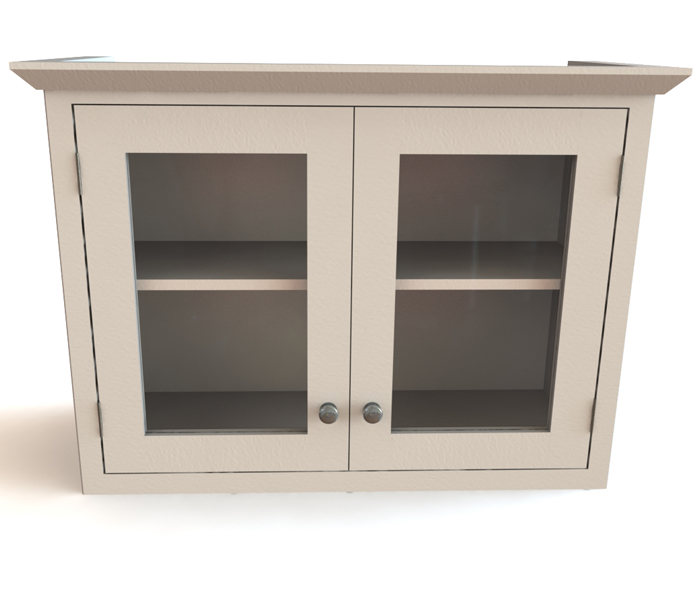 glass front wall cabinet 1